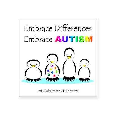 Autism Penguins Rectangle Sticker