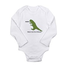 Rawr - Means I Love You in Dinosaur Long Sleeve In
