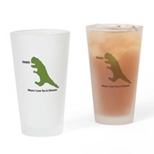 Rawr - Means I Love You in Dinosaur Drinking Glass