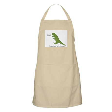Rawr - Means I Love You in Dinosaur Apron
