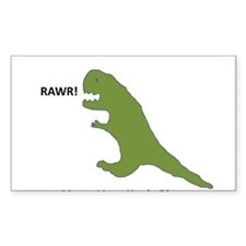 Rawr - Means I Love You in Dinosaur Decal