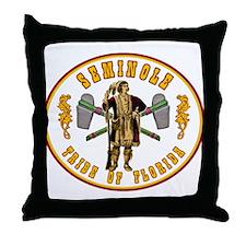 Vintage Seminole Tribe of Florida. Throw Pillow
