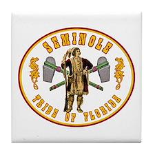 Vintage Seminole Tribe of Florida. Tile Coaster