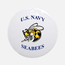 us navy seabees Ornament (Round)