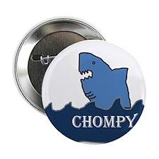 """Shark: Chompy 2.25"""" Button"""