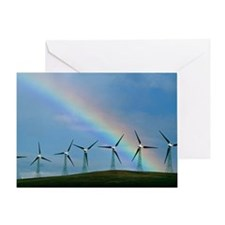 Greeting Card - Wind farm