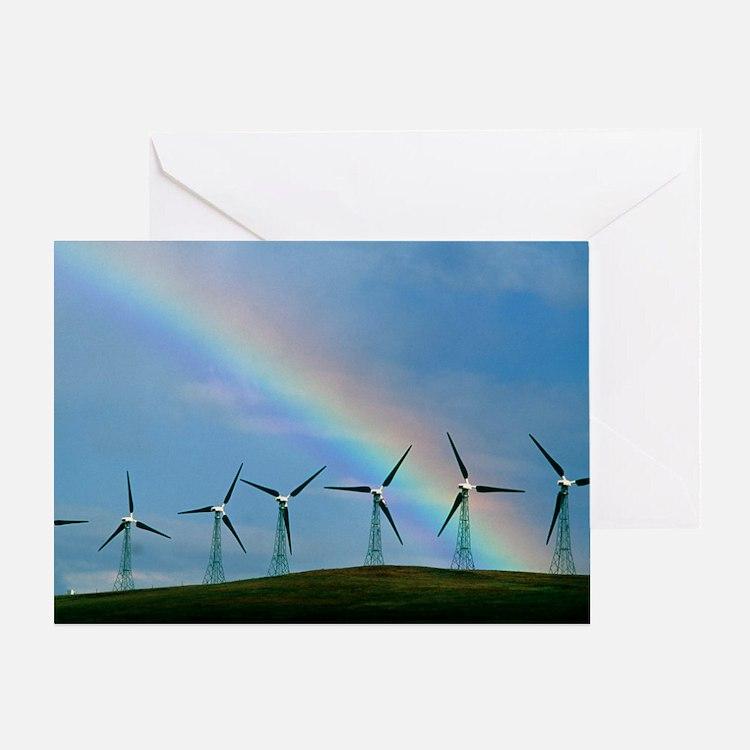 Greeting Card - Wind farm