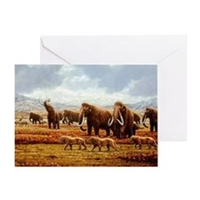 Greeting Card - Woolly mammoths