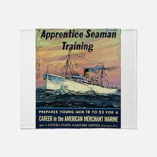 Apprentice Seaman Training Throw Blanket