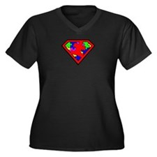 Autism is a Super Power Plus Size T-Shirt