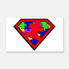 Autism is a Super Power Rectangle Car Magnet