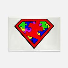 Autism is a Super Power Rectangle Magnet