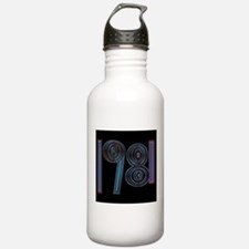 1981 cool year logo Water Bottle