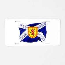 Scotland the brave flag Aluminum License Plate