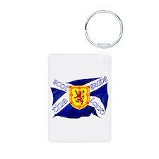 Scotland the brave flag Aluminum Photo Keychain