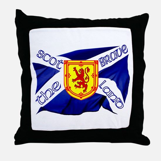 Scotland the brave flag Throw Pillow