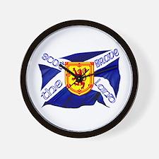 Scotland the brave flag Wall Clock