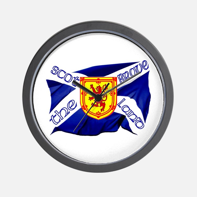 Scotland the brave flag Wall Clock