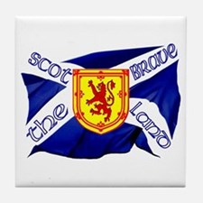 Scotland the brave flag Tile Coaster