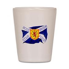 Scotland the brave flag Shot Glass