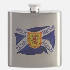 Scotland the brave flag Flask