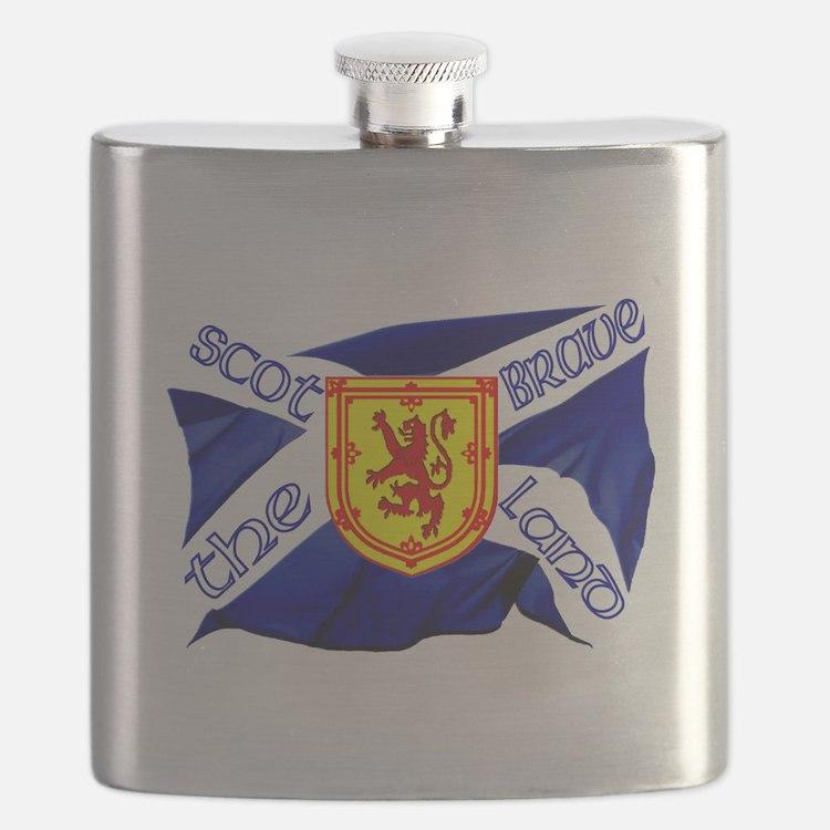 Scotland the brave flag Flask