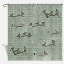 Birds on Branches Shower Curtain
