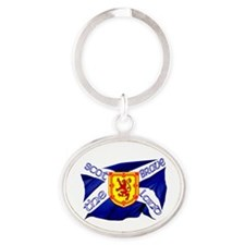 Scotland the brave flag Oval Keychain