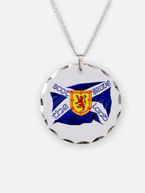 Scotland the brave flag Necklace
