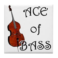 Ace of Bass Tile Coaster