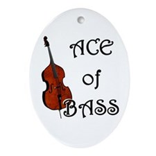 Ace of Bass Oval Ornament