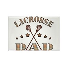 Lacrosse Dad, Steampunk Style Rectangle Magnet