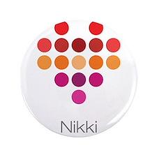 """I Heart Nikki 3.5"""" Button (100 pack)"""