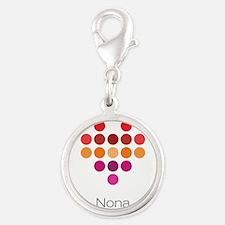 I Heart Nona Silver Round Charm