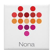 I Heart Nona Tile Coaster