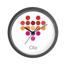 I Heart Ola Wall Clock