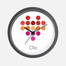 I Heart Ola Wall Clock