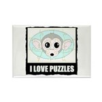 I LOVE PUZZLES Rectangle Magnet (100 pack)