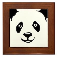 panda bear teddy bär Framed Tile
