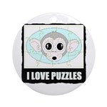 I LOVE PUZZLES Ornament (Round)
