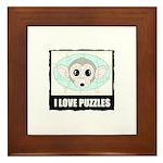 I LOVE PUZZLES Framed Tile