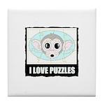 I LOVE PUZZLES Tile Coaster