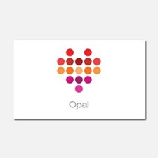 I Heart Opal Car Magnet 20 x 12