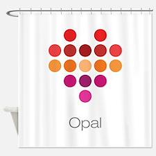 I Heart Opal Shower Curtain