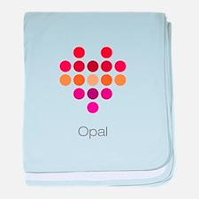 I Heart Opal baby blanket