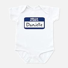 Hello: Danielle Infant Bodysuit