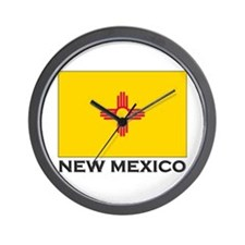 New Mexico Flag Stuff Wall Clock