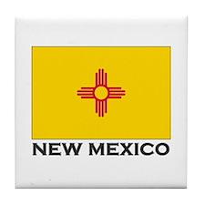 New Mexico Flag Stuff Tile Coaster