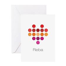 I Heart Reba Greeting Card