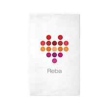 I Heart Reba 3'x5' Area Rug